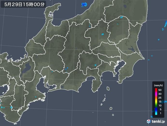 関東・甲信地方の雨雲レーダー(2019年05月29日)