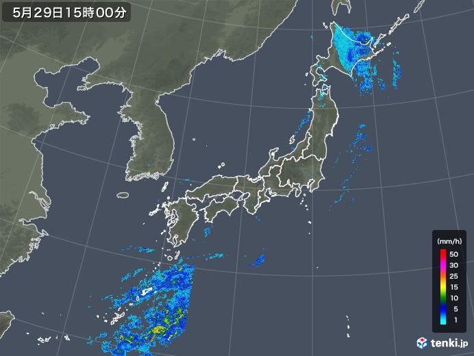 雨雲レーダー(2019年05月29日)