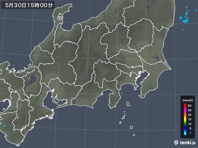 関東・甲信地方の雨雲レーダー(2019年05月30日)