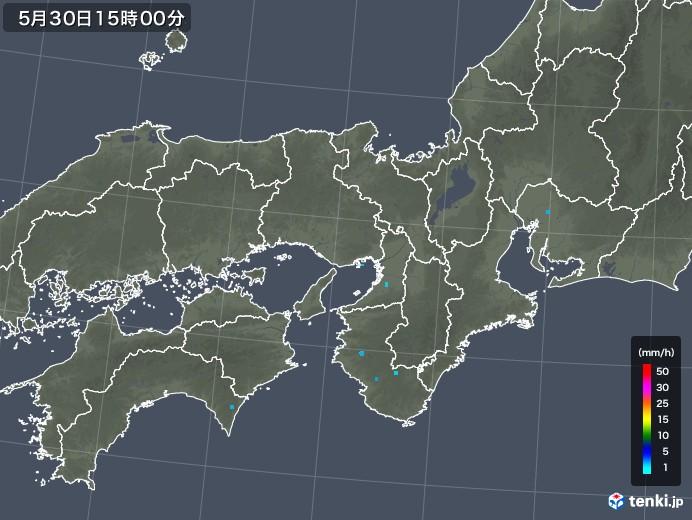 近畿地方の雨雲レーダー(2019年05月30日)