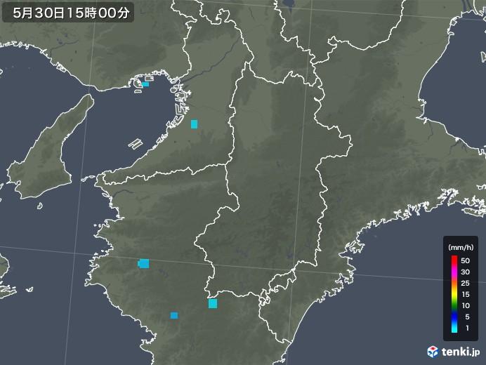奈良県の雨雲レーダー(2019年05月30日)