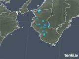 2019年06月03日の和歌山県の雨雲の動き