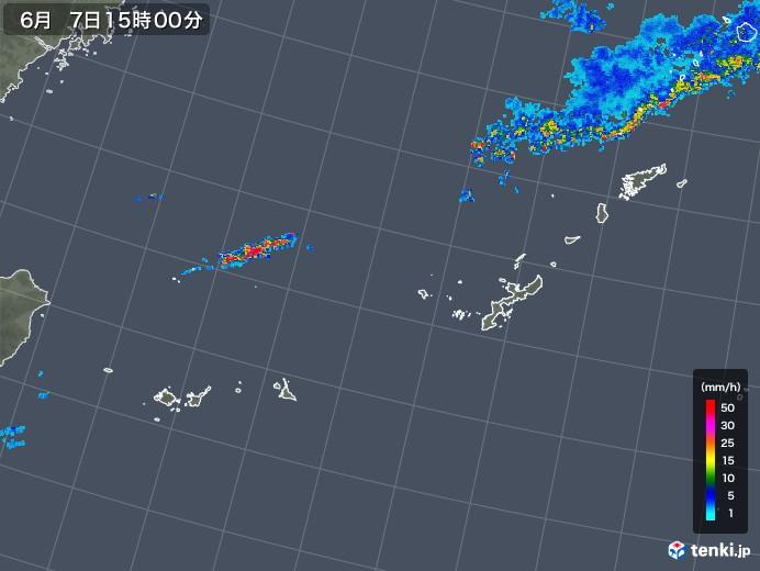 沖縄地方の雨雲レーダー(2019年06月07日)