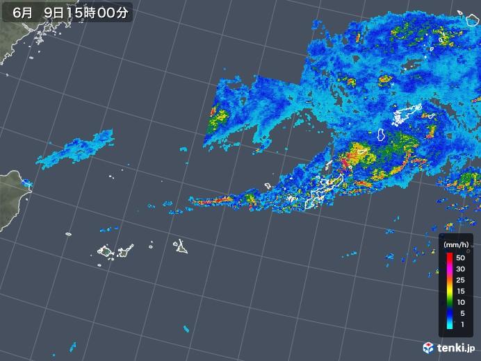 沖縄地方の雨雲レーダー(2019年06月09日)