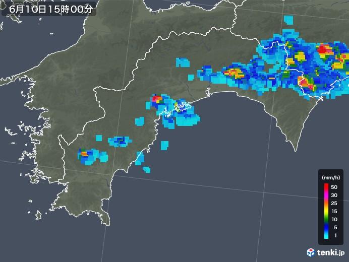 高知県の雨雲の動き(2019年06月10日)