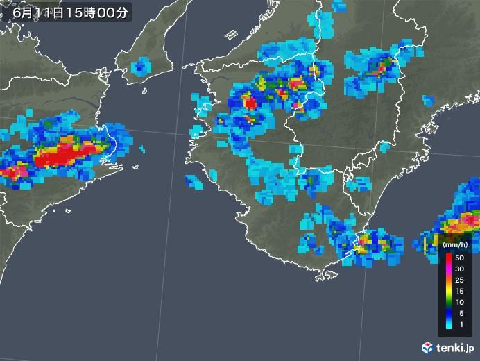 和歌山県の雨雲の動き(2019年06月11日)