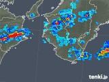 2019年06月11日の和歌山県の雨雲の動き
