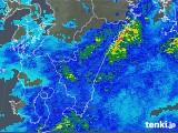 2019年06月14日の宮崎県の雨雲の動き