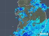 2019年06月19日の秋田県の雨雲の動き