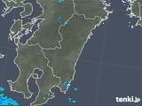 2019年06月21日の宮崎県の雨雲の動き