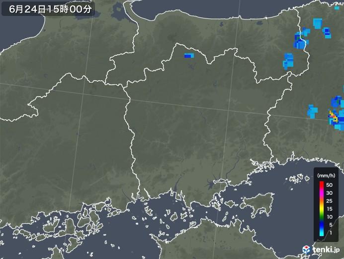 岡山県の雨雲レーダー(2019年06月24日)
