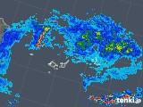 2019年06月24日の沖縄県(宮古・石垣・与那国)の雨雲の動き