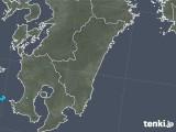 2019年06月25日の宮崎県の雨雲の動き
