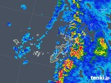 2019年06月26日の沖縄県の雨雲の動き