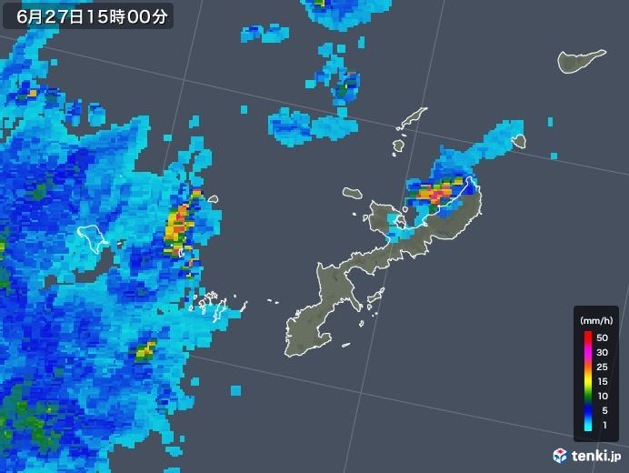 沖縄 雨雲 レーダー