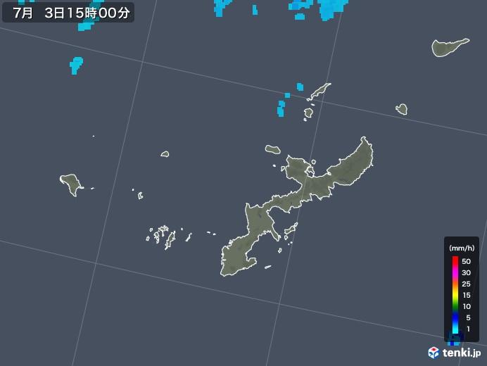 沖縄県の雨雲レーダー(2019年07月03日)
