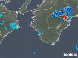 2019年07月28日の和歌山県の雨雲の動き