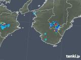2019年07月29日の和歌山県の雨雲の動き