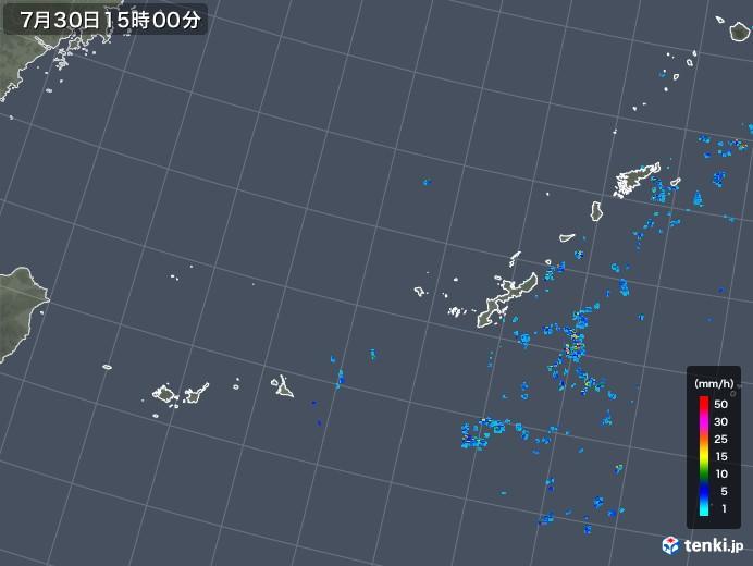沖縄地方の雨雲レーダー(2019年07月30日)