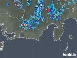 2019年08月01日の静岡県の雨雲の動き