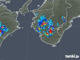 2019年08月01日の和歌山県の雨雲の動き