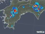2019年08月01日の高知県の雨雲の動き