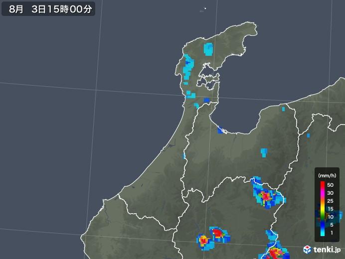 石川県の雨雲レーダー(2019年08月03日)