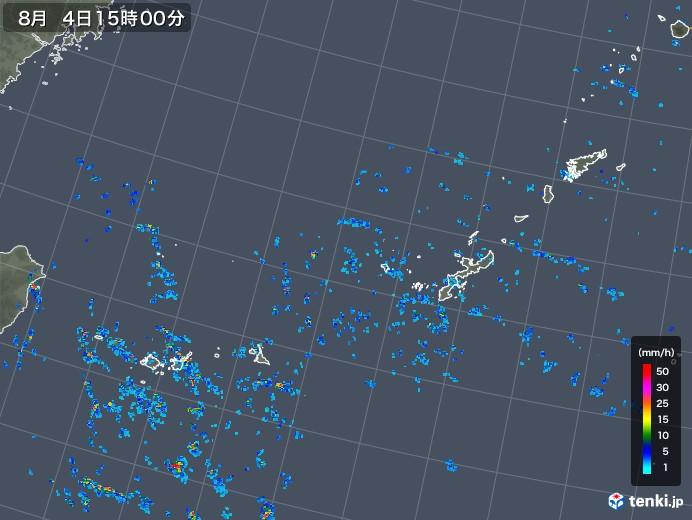 沖縄地方の雨雲レーダー(2019年08月04日)