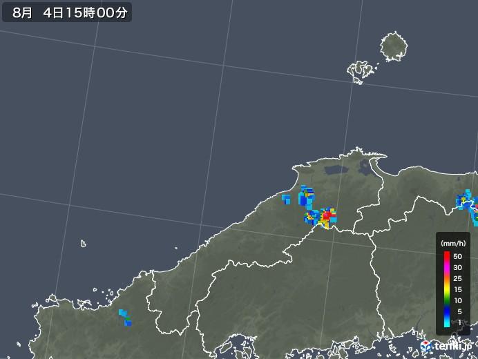 島根県の雨雲レーダー(2019年08月04日)