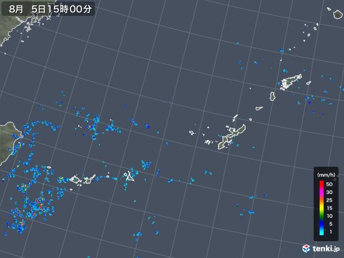 沖縄地方の雨雲レーダー(2019年08月05日)