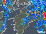 2019年08月06日の愛媛県の雨雲の動き