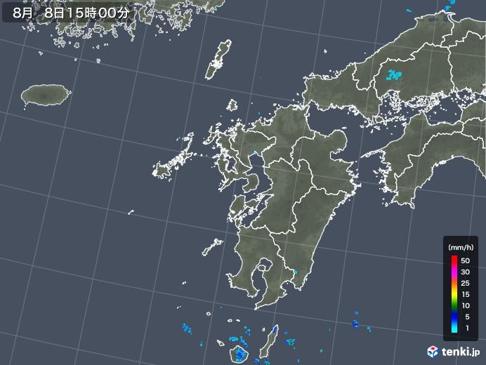 九州地方の雨雲レーダー(2019年08月08日)