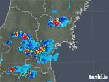 2019年08月08日の宮城県の雨雲の動き