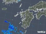 2019年08月09日の九州地方の雨雲の動き