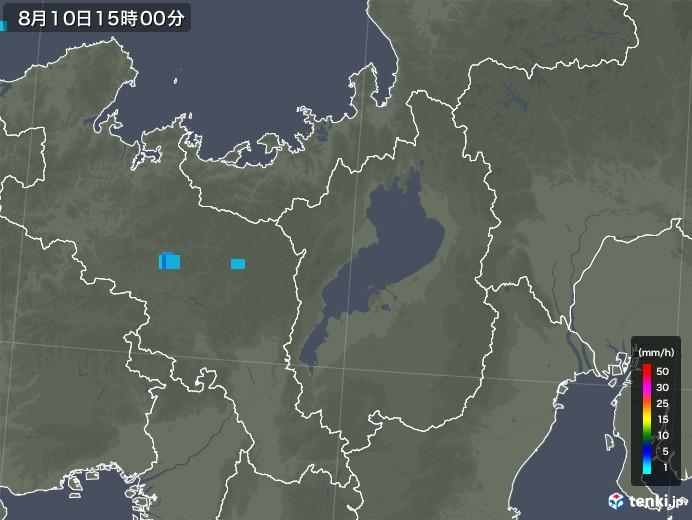 滋賀県の雨雲レーダー(2019年08月10日)
