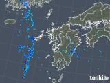 2019年08月11日の九州地方の雨雲の動き
