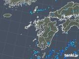 2019年08月13日の九州地方の雨雲の動き