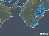 2019年08月13日の和歌山県の雨雲の動き