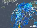 2019年08月14日の九州地方の雨雲の動き
