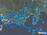2019年08月14日の静岡県の雨雲の動き