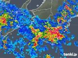 2019年08月14日の和歌山県の雨雲の動き