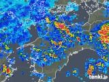 2019年08月14日の愛媛県の雨雲の動き