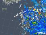 2019年08月15日の九州地方の雨雲の動き