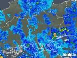 2019年08月15日の岡山県の雨雲の動き