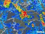 2019年08月15日の愛媛県の雨雲の動き
