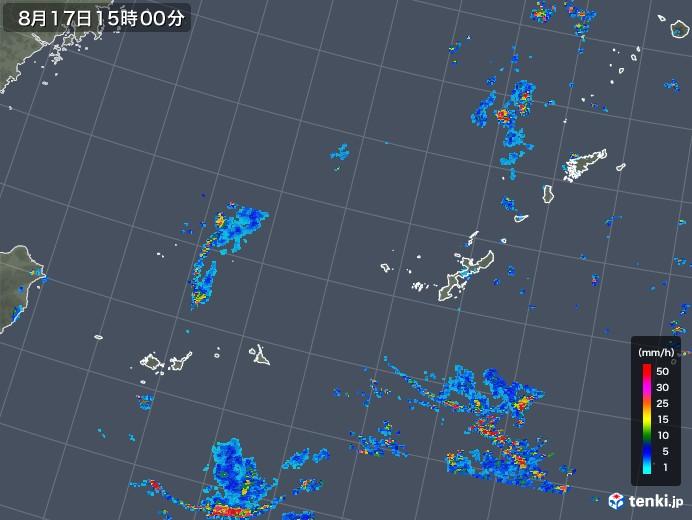 沖縄地方の雨雲レーダー(2019年08月17日)