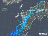 2019年08月18日の九州地方の雨雲の動き