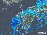 2019年08月19日の九州地方の雨雲の動き