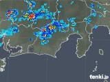 2019年08月19日の静岡県の雨雲の動き