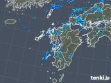 2019年08月20日の九州地方の雨雲の動き